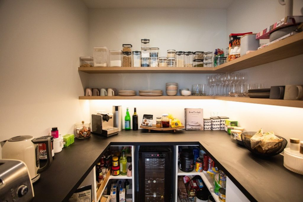 fully stocked butlers pantry